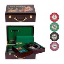 Набор для игры в рулетку и покер LUX на 100 фишек