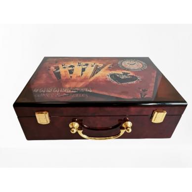 Набор для покера Millenium Paradigma luxury на 500 фишек  (Красное дерево)