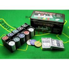 Набор для покера Holdem Light (Poker Chips) на 200 фишек с номиналом
