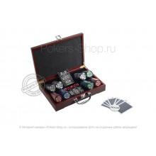 Набор для покера Black Stars LUX на 200 фишек