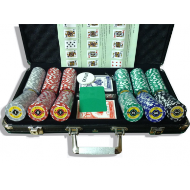 Набор для покера Crown на 300 фишек Lite