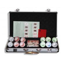Набор для покера (Покерный набор) Royal Flush New на 300 фишек в алюминиевом кейсе Lite