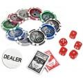 Набор для покера (Покерный набор) Royal Flush Lux на 300 фишек в металлическом кейсе