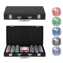 Набор для покера NUTS Black на 300 фишек Lite