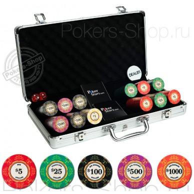 Набор для покера Luxury Ceramic на 300 фишек Premium