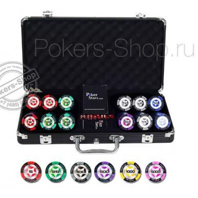 Набор для покера Black Stars на 300 фишек (Premium)
