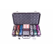 Набор для покера (Покерный набор) Frost на 300 фишек в алюминиевом кейсе Premium