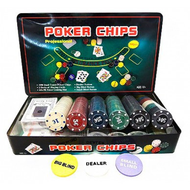 Набор для покера Holdem на 300 фишек с номиналом Premium