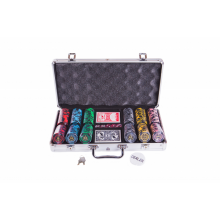Набор для покера (Покерный набор) Lux на 300 фишек в алюминиевом кейсе Premium