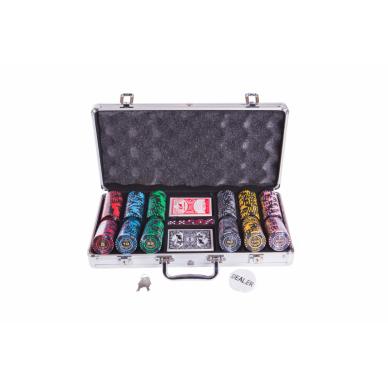 Набор для покера (Покерный набор) Lux premium на 300 фишек в алюминиевом кейсе