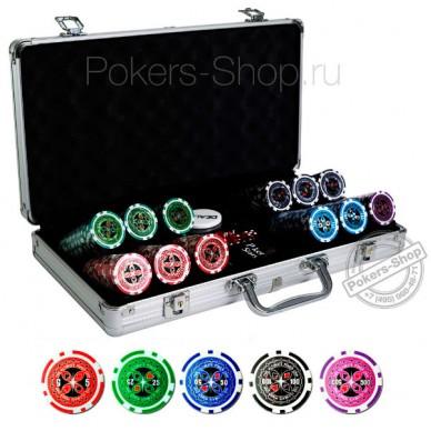 Набор для покера Ultimate на 300 фишек – фишки: 14 гр