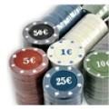 Набор для покера (Покерный набор) Holdem Light на 500 фишек с номиналом Premium