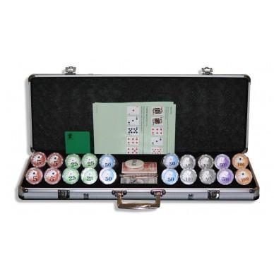 Набор для покера (Покерный набор) Royal Flush New на 500 фишек в алюминиевом кейсе Lite