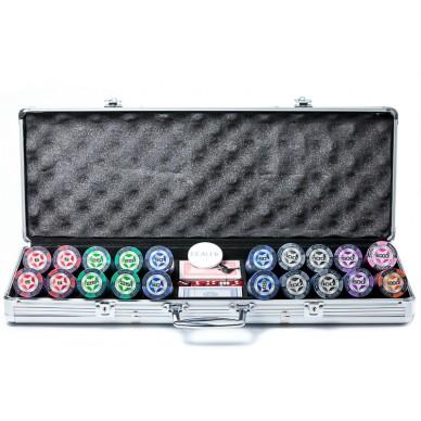 Набор для покера Stars 500, фишки 14 грамм с номиналом Premium