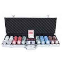 Набор для покера Monte Carlo 500 NEW, фишки 14 грамм с номиналом Premium