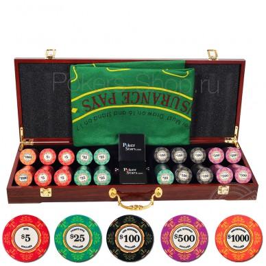 Элитный набор для покера LUX на 500 фишек