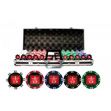 Набор для покера 500 фишек Lucky с номиналом