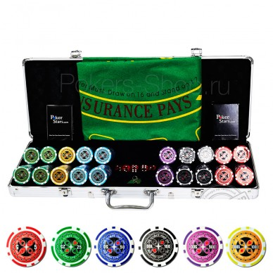 Набор для покера Ultimate на 500 фишек Premium