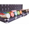 Набор для покера (Покерный набор) Compas на 500 фишек в алюминиевом кейсе premium