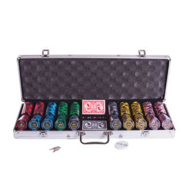 Набор для покера (Покерный набор) Lux premium на 500 фишек в алюминиевом кейсе