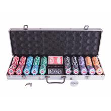 Набор для покера (Покерный набор) Premium Crown  на 500 фишек в алюминиевом кейсе Premium