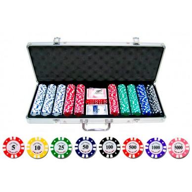 Набор для покера Vegas на 500 фишек в стальном кейсе