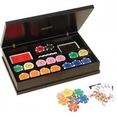 Набор для покера Renzo Romagnoli в деревянном кейсе