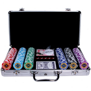 Набор для покера Crown 300 silver
