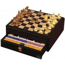 Renzo Romagnoli подарочный набор (шахматы, шашки, покер)
