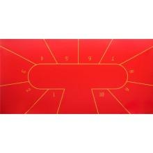 Сукно Porter Poker с разметкой на 10 боксов (красное)