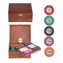 Набор для покера Ceramic VIP на 250 фишек коричневый