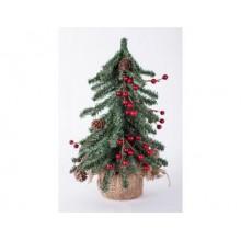 Искусственная елка ВЕНСКАЯ с ягодами и шишками 30см