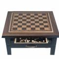 Стол для игры в шахматы, шашки и нарды (дерево, 61х61х52см)