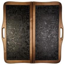 """Нарды """"Кожаные Египет"""" большие с ручкой (Россия, дерево, 60х30х5 см)"""