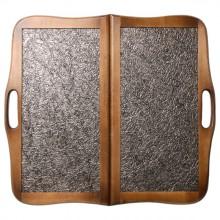 """Нарды """"Кожаные Тайпан"""" средние с ручкой (Россия, дерево, 50х25х5 см)"""