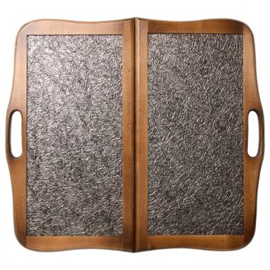 """Нарды """"Кожаные Тайпан"""" большие с ручкой (Россия, дерево, 60х30х5 см)"""