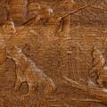 """Нарды Сенеж """"Мишки в Лесу"""" дуб (Россия, дерево, 50х29х6,5 см)"""
