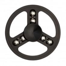 Спиннер металлический круглый с шариками черный