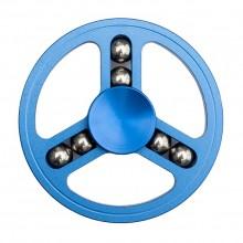 Спиннер металлический круглый с шариками синий