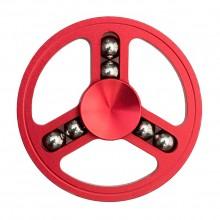 Спиннер металлический круглый с шариками красный