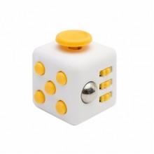 Fidget Cube белый с желтым