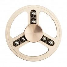 Спиннер металлический круглый с шариками платиновый