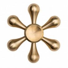 Спиннер металлический золотой штурвал в черном чехле