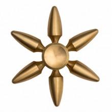 Спиннер металлический золотой штурвал люкс в черном чехле
